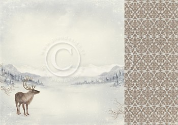 """Santa's reindeer / 12x12"""" / Greetings from the North Pole"""
