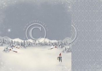 """Midwinter night / 12x12"""" / Greetings from the North Pole"""