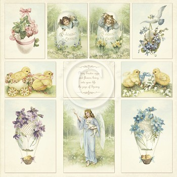 Easter Greetings / 12x12 / Images from the Past