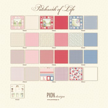 "Patchwork of Life / 12x12"" / 13ks / Sada papierov"