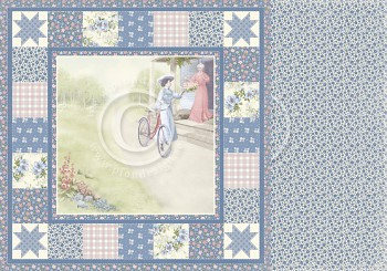 """Patchwork of Life / 12x12"""" / Being a grandmother"""