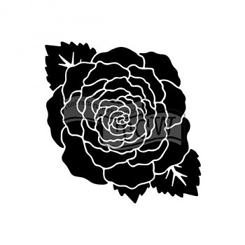 "Šablóna / 6x6"" / Large rose"