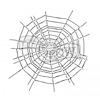 """Šablóna / 12x12"""" / Scary web"""