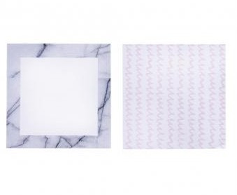 Samolepiace štítky 76x76mm / 30 listov / 2ks