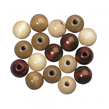 Wooden beads / 4mm / 150pcs / brown tones