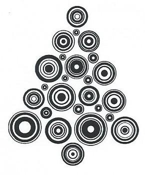 Transparent Stempel  / Christmas tree II