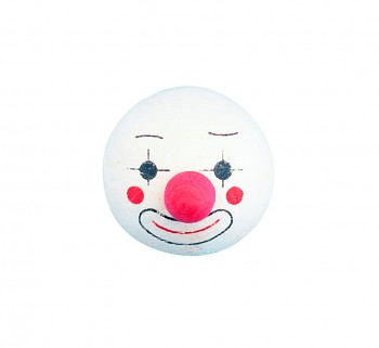 Head of cotton wool: Clown with nose / 40mm / 1pc