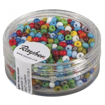 Rocailles 2,6mm / 17g / opaque mixed