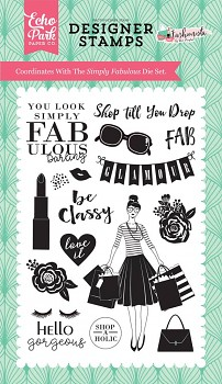Fashionista Simply Fabulous Clear Stamps / transparentné razítka