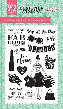 Fashionista Simply Fabulous Clear Stamps / transparentné razítka