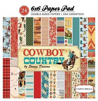 Cowboy Country / 6x6 / Sada papierov
