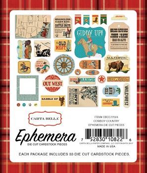 Cowboy Country Ephemera / Papírové výřezy