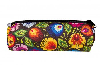 Folk pencil case / 20x7cm / black