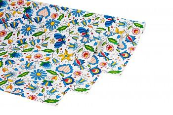Baliaci darčekový papier FOLK / 69,5x99,5cm