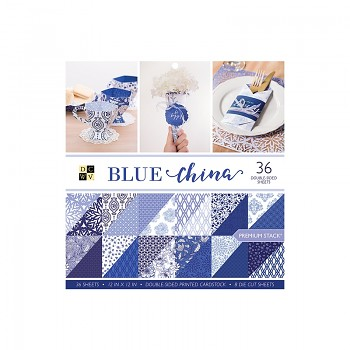 Sada papierov / Blue China / 12x12 / 36ks