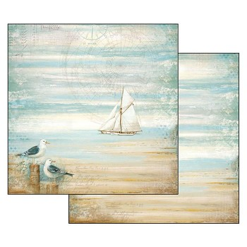 Scrapbookový papier / 12x12 / Sea Land Seagulls