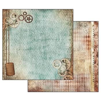 Scrapbookingpapier / 12x12 / Clockwise Gears