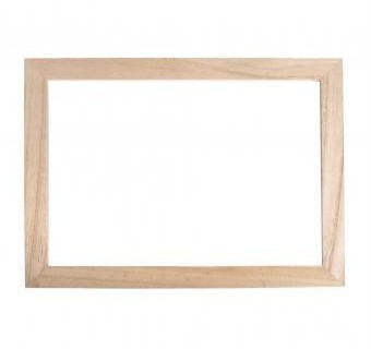 Dřevěný rám s plexisklem / 35x26x0,7cm