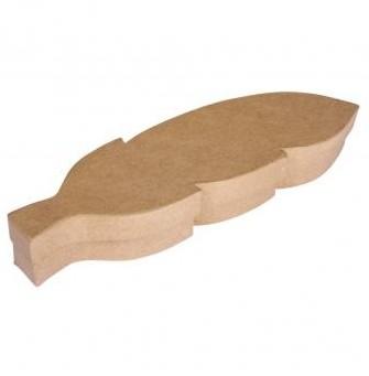 Papier-maché krabička - pírko / 28x8x4cm