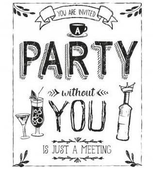 Wooden Stamp / PARTY / 8x10cm