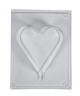 Casting mould: Heart, 8.5x9.2cm, depth 3cm
