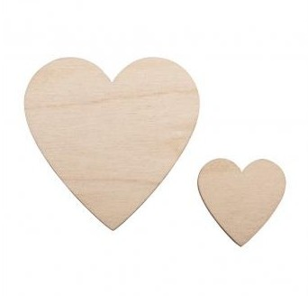 Wooden Hearts / 31pcs