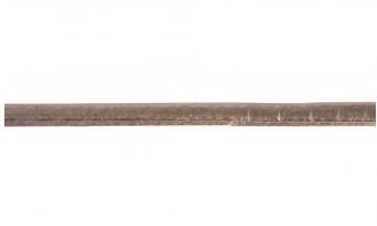 Koženková šnúrka metalická plochá / 3mm / ružovo-zlatá / 2m