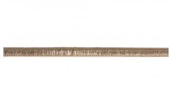 Koženková šňůrka metalická / 3mm / gold / 2m