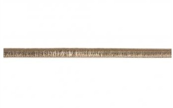 Koženková šnúrka metalická plochá / 3mm / zlatá / 2m