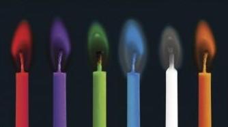 Party sviečky s farebným plameňom 5,5cm / 12ks