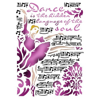 Stencil / A4 / Dance