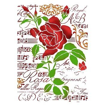 Stencil / A4 / Rose & Music