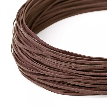 Leather cord / 2 mm / brown / 120cm
