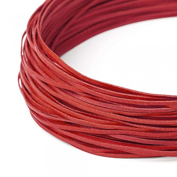 Leather cord / 2 mm / red / 110cm