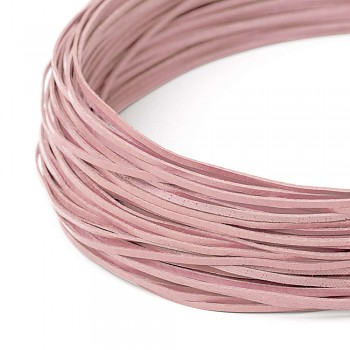 Leather cord / 2 mm / pink / 110cm