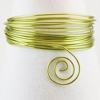 Aluminium wire 2mm 5m apple green