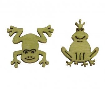 Wooden small objects / Frogs / 1.5 - 2cm / 24pcs