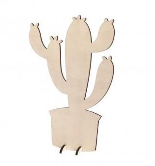 Wooden cactus / 14,3x21,2cm