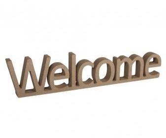 MDF nápis Welcome / 25x1,5x5,5cm