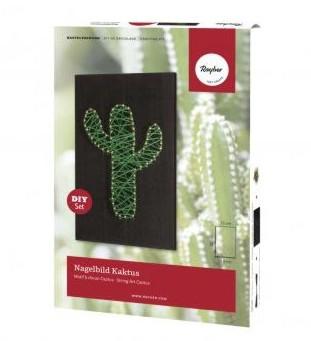 Bastelpackung: Nagelbild Kaktus, 12x20x0,9cm