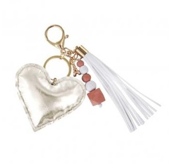 DIY set / Key-holder Heart / 10.5x16cm