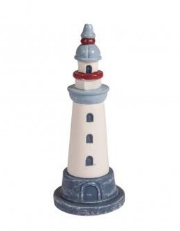 Deco-Lighthouse / 3,5 x 3,5 x 9 cm