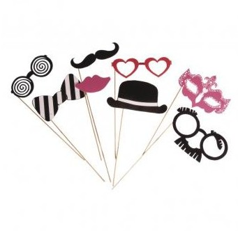 Party Masks Basic 1 / 8pcs