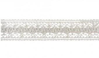 Lace ribbon cream 38mm
