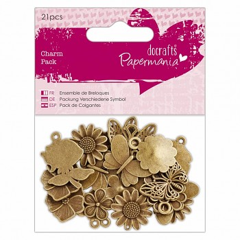 Charm Pack (21pcs) - Flowers & Butterflies