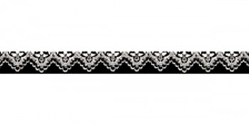 Washi páska - 1cm x 10m / White lace on black