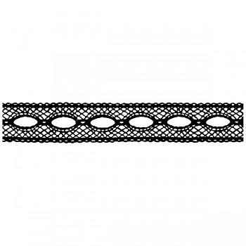 Cling razítko 18x4cm / Lace with hole