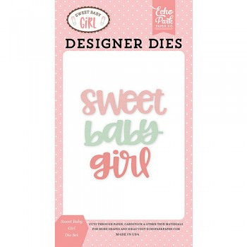 Vyrezávacie šablóny / Sweet Baby Girl Word Die Set