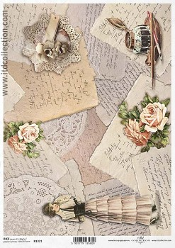 Rice decoupage paper A4 / ITD R1321