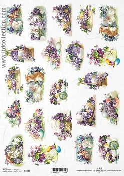 Rice decoupage paper A4 / ITD R1340